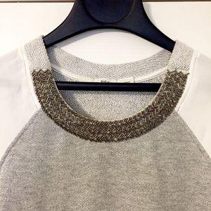 Gibson beaded neckline sweater